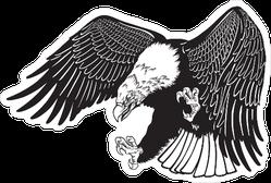 Bald Eagle In The Sky Sticker