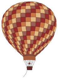 Balloon Hot Air Vintage Illustration Sticker