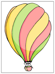Balloon Illustration Sticker