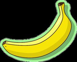 Banana Fruit On Green Sticker