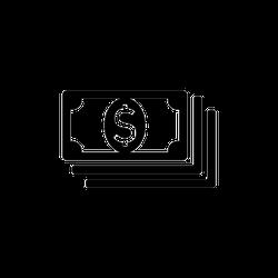 Banknotes Icon Sticker
