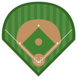 Baseball Diamond Field Sticker