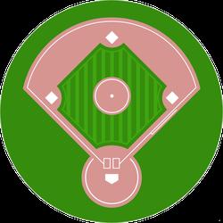Baseball Diamond Field Top View Sticker