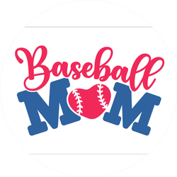 Baseball Mom Text Design Sticker
