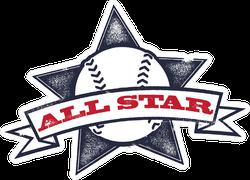 Baseball Or Softball All Star Sticker