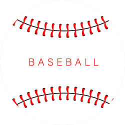 Baseball Red Stitches And Lettering Sticker