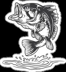 Bass Fish Jumping Sticker