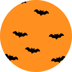 Bat Halloween Seamless Pattern Sticker