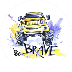 Be Brave Watercolor 4x4 Sticker