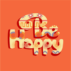 Be Happy Hippie Sticker
