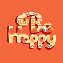 Be Happy Hippie Sticker