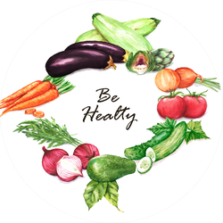 Be Healthy Watercolor Illustration Sticker