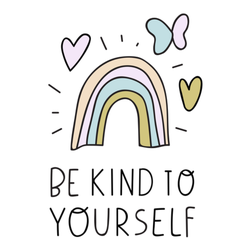 Be Kind To Yourself Rainbow Sticker