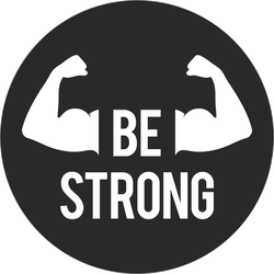 Be Strong Circle Workout Sticker