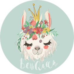 Be The Queen llama Sticker