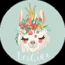 Be The Queen llama Sticker