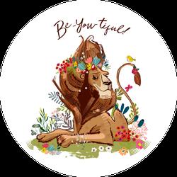 Be-You-Tiful Lion Sticker