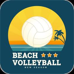 Beach Sunset Volleyball Sticker