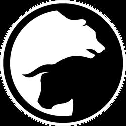 Bear Market Bull Market Symbol Sticker