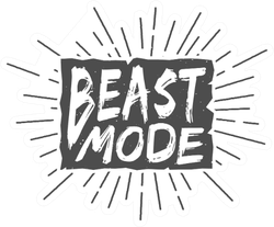 Beast Mode Boxing Sticker