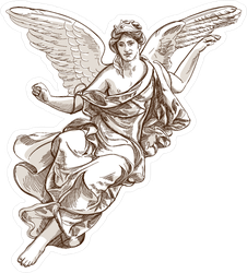 Beautiful Angel Muse Illustration Sticker