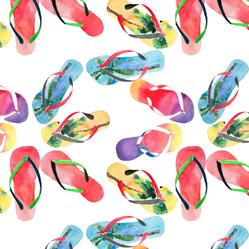 Beautiful Bright Flip Flop Pattern Sticker