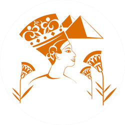 Beautiful Egyptian Decorations In Orange Sticker
