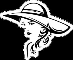 Beautiful Fashionable Large Hat Sticker