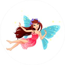 Beautiful Flying Fairy Sticker
