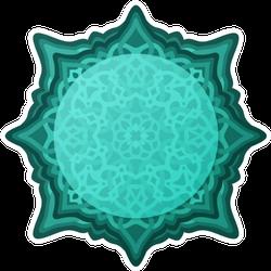 Beautiful Illustration In Blue Celtic Knots Sticker
