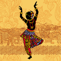 Beautiful Indian Women Dancing Sticker