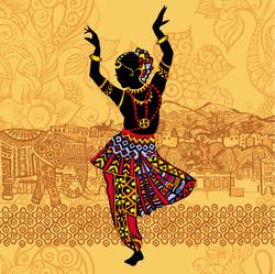 Beautiful Indian Women Dancing Sticker