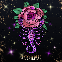 Beautiful Line Art Scorpio Sticker