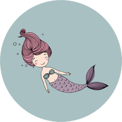 Beautiful Little Mermaid with Red Hair