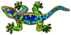 Beautiful Mosaic Colored Lizard Sticker