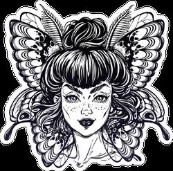 Beautiful Moth Fairy Sticker