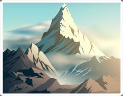 Beautiful Mountain Illustration Sticker