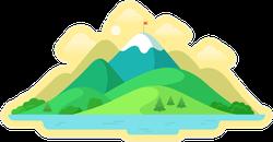 Beautiful Mountain Peak Sticker