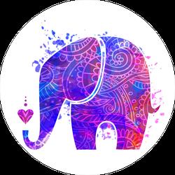 Beautiful Pattern Elephant Sticker