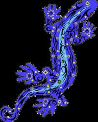 Beautiful Purple Night Gecko Lizard Sticker