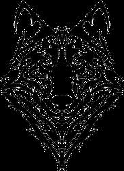 Beautiful Tribal Wolf Head Sticker
