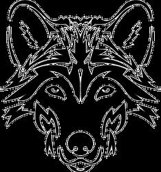Beautiful Wolf Tattoo Style Sticker