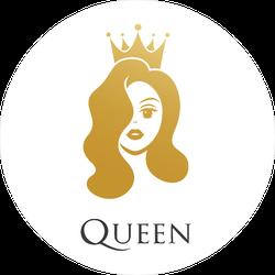 Beauty Queen Crown Circle Sticker