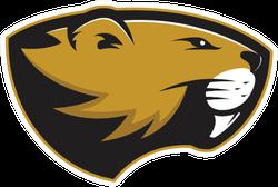 Beaver Head Mascot Sticker