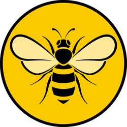 Bee Circle Icon Sticker