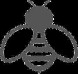 Bee Icon Sticker