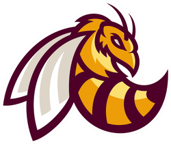 Bee or Hornet Sports Mascot Sticker