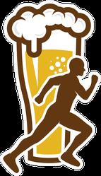 Beer Run Sticker