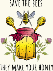 Save The Bees They Make Your Honey Colorful Sticker