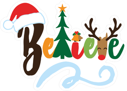 Believe - Christmas Elements Sticker